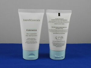 bareMinerals PURENESS Coconut Prickly Pear GEL CLEANSER Deluxe Sample 30ml X 2