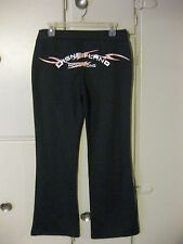 Disneyland Hong Kong Tennis Embroidered Minnie Mouse Womens Pants, Medium, Black