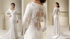 SPLENDID Twilight Bella Long-sleeves Wedding dress Bridal Gown Size:Custom 2 4 6