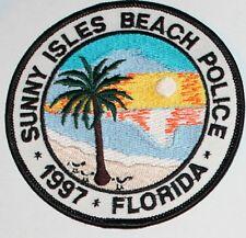 Sunny Isles Beach Florida Oval Bumper Sticker or Helmet Sticker D1285 Euro Oval
