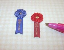 Miniature Fancy Winning Ribbons 1st/2nd for DOLLHOUSE 1:12 Scale Miniatures