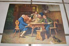 1930's-40s Print European Pub Scene Playing cards Rathskeller Dachshund