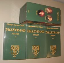 G. Lacour Gayet Talleyrand 1754-1838 3 tomes sous coffret Payot