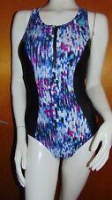 M&S Active Sport 'Secret Slimming' Padded Panelled Swim Suit 22 Black Mix BNWT