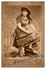 ANNIE OAKLEY Cabinet Card CDV Photograph Vintage Photograph Barrett RP