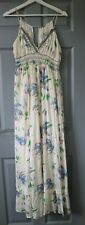 River Island Floral Lily Maxi Dress with Rhinestones & Pockets UK 14