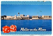 Rollin' On The River Edgewater Hotel Casino Laughlin Nevada Dice Gambling Vtg