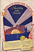 Memphis Open Air Theatre Program:  Memphis, Tennessee: 1946