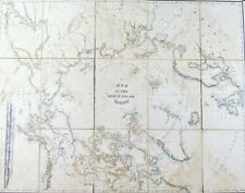 1855 John Rodgers Survey North Pole World-Region Antique Map