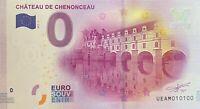 BILLET 0  EURO  CHATEAU DE CHENONCEAU FRANCE  2017  NUMERO 100