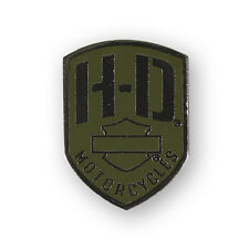 "Harley-Davidson Pin ""Military base"" le PINS * P 475531 * Olive"