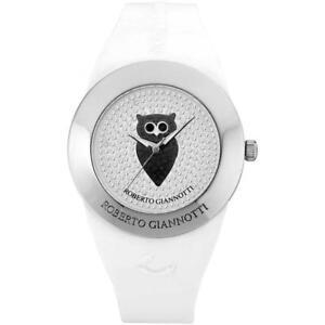 Womens Wristwatch ROBERTO GIANNOTTI OMN151 Owl Silicone White Swarovski