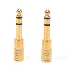 2Pcs 6.5mm To 3.5mm Female to Male Headphone Stereo Audio Jack Adapter P Sl