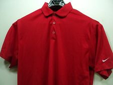 Nike Golf Dry Fit Red Athletic Casual Golf Polo Shirt Sz XL