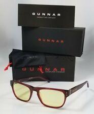 NEW GUNNAR CODEX GAMING GLASSES maroon amber computer blue light Rx eyewear