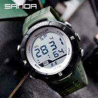 Men's Sport Waterproof Digital LED Watches Luminous Alarm Calendar Display Watch
