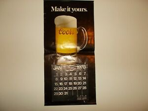 1978 COORS BREWING CALENDAR MAKE IT YOURS