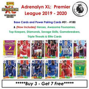 Adrenalyn XL - Premier League 2019 - 20: Base Cards & Special Cards #01 - #180