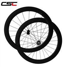 Csc 25mm width U shape 60mm Clincher Tubeless carbon bike wheelset R13 Aero 424