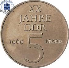 Unzirkulierte Münzen der DDR aus Kupfer