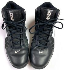 Mens Nike Basketball Shoes Black White Leather Sz 11.5 Us