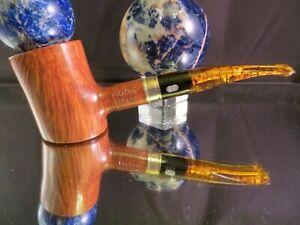 (NEW)  Chacom Bering .Poker w/Birdseye 925 Silver Non-Filter pipe Stock #DM274