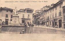 6659) CASTELNUOVO D'ASTI, PIAZZA UMBERTO I E MONUM. A DON G. BOSCO. ANIMATA. VG.