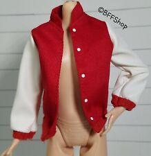 MATTEL RED VARSITY JACKET BARBIE SKIPPER'S FASHIONISTAS FASHION CLOTHES