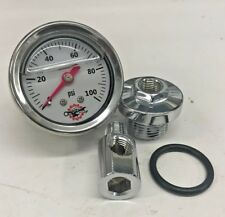 HONDA CB750 OIL PRESSURE GAUGE chopper bobber cafe cb 750 sohc stainless white