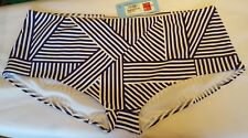 M&S  Size 18 Eur 46 navy mix stripe boy shorts briefs NEW