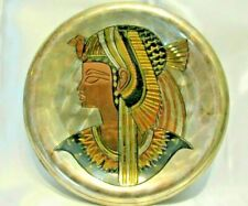 Egyptian Wall Plate Decorator Metal Kleopatra Cleopatra Egypt Queen Mint