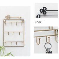 Organizer Wall Mounted Hanging Door Back Key Holder Storage Rack Hanger Hooks