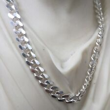 ".925 Sterling Silver Flat Curb 7.65 mm Chain 24/"" Italy"