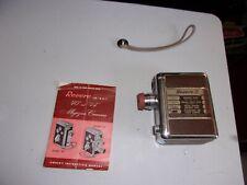 Vintage Revere Camera Magazine Cine Model 40 8 mm 1950s Brown leather silver