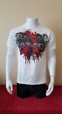 NWOT Sick Psyco White Short Sleeve T-Shirt Size-M