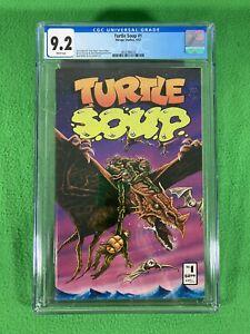TURTLE SOUP 1 - MIRAGE - TEENAGE MUTANT NINJA TURTLES TMNT - CGC 9.2 WP - 1987