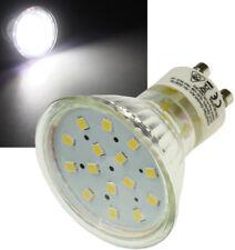 """LED Strahler GU10 """"H10 SMD"""" 15 SMD LEDs 4000k 60lm 120° 230V/0,8W weiß"""