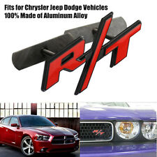 3D Red RT Front Grill Grille Metal Badge Emblem for Dodge Charger Challenger Ram