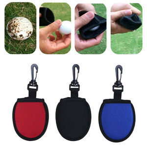 Toweling with Clip Golf Ball Cleaner Pouch Washer  Golf Pocket Tools For Sports