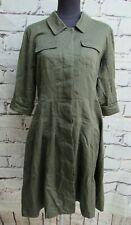 Olive green shirt dress size 12