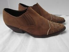 Georges Marciano Guess vtg brn point toe leather cowboy western bootie shoe 6