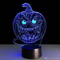 Halloween Pumpkin Skull Witch Ghost  Light Lamp Party Decor LED Lantern 3D USB