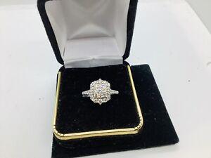 10k White Gold,diamonds  Engagement,wedding ,ring Size 7