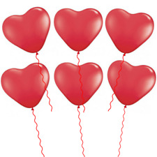 Heart Balloons Red Proposal Wedding Engagement Hens Latex Party Supplies 6 Pack