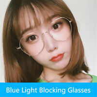 Fashion Unisex Metal Anti Blue Light Blocking Glasses Computer Eyeglasses Frame