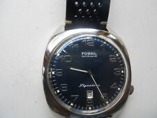 vintage Fossil Automatic men's leather dress analog & water resist watch.Si-1008