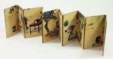 Antique Japanese Erotica Artwork Shunga Pillow Book Accordion Mount 5 SCENES