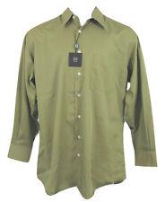Brand New Ike Behar Fine Cotton Dress Shirt! 15.5 - 34 *Olive* Straight Collar
