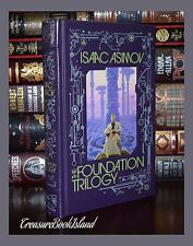 Foundation Trilogy by Isaac Asimov New Sealed Leather Bound Collectible Gift