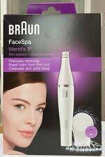 BRAUN FACESPA FACE 810 MINI EPILATOR +CLEANSING BRUSH PRECISION HAIR REMOVER NEW